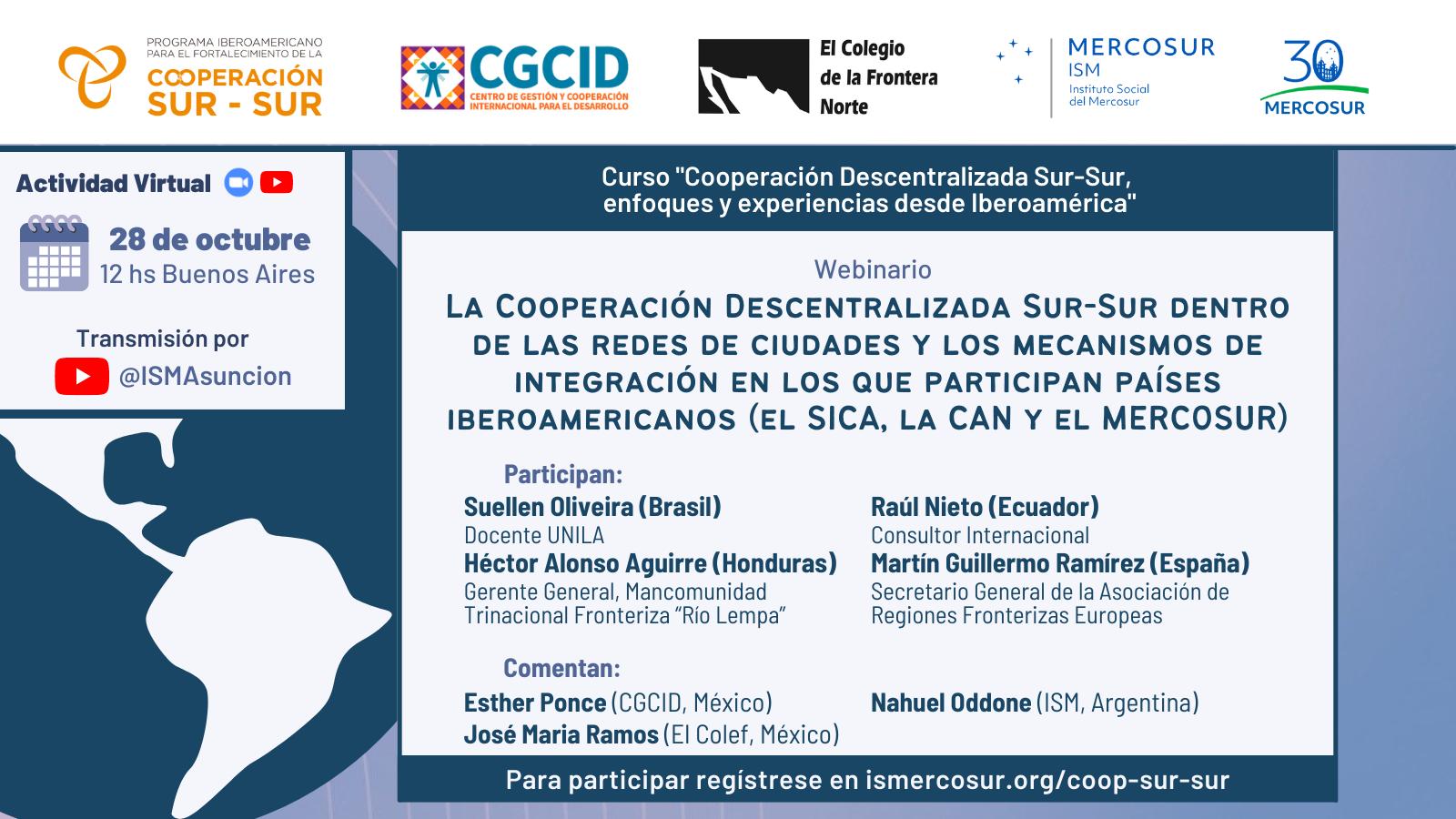 ISM, PIFCSS, CGCID y El Colef